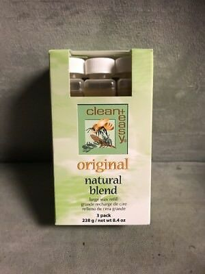 Clean & Easy Original Natural Blend Large Wax Refill  3 Pack