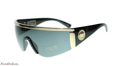 bd16f6abadfd2 VERSACE UNISEX DESIGNER Sunglasses VE2197 100087 Gold Grey Lens 40mm ...