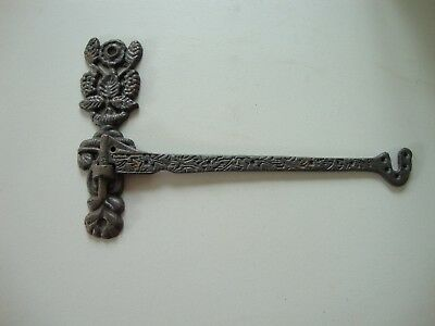 Antique Vintage Wrought? Cast? Iron Ornate Victorian Decorative Swing Wall Hook