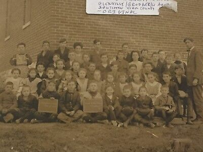 SCARCE And Rare 1904 School Photo With Handicapped Child