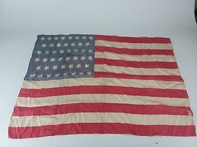 EARLY 1900s Original 46 Star Silk American Flag