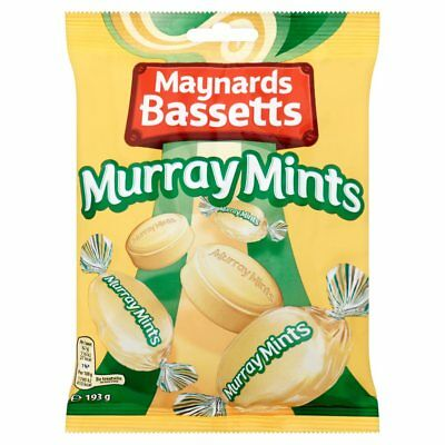 Maynards Bassetts Murray Mints Bag 193g (12 x 193g) FREE DELIVERY