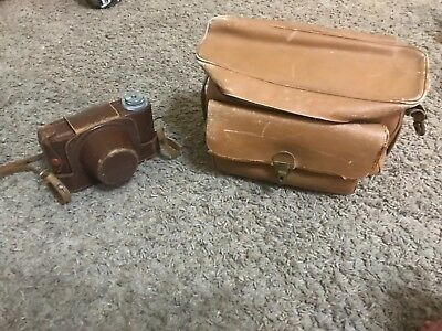 E-P canon range finder model II with lenses and case
