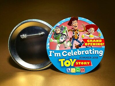 "Disney World TOY STORY LAND Opening-Woody Jessie Buzz-3"" Pin Button-FREE SHIP"