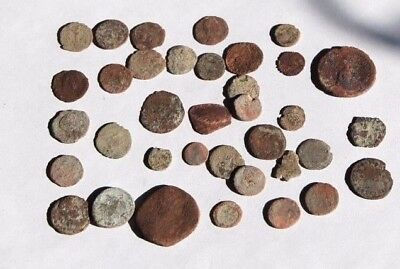 Collection of 36 ANCIENT GREEK ROMAN & BYZANTINE Coins 400 BC- 1000 AD, OLD LOT!
