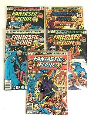 FANTASTIC FOUR #211 212 213 214 215 1st App Terrax the Tamer! 5 Comic LOT VF