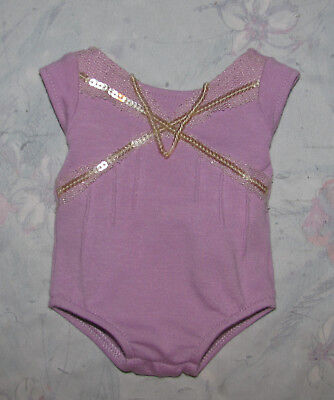 American Girl Isabelle's Purple Leotard - Purple Sequined Bodysuit Only