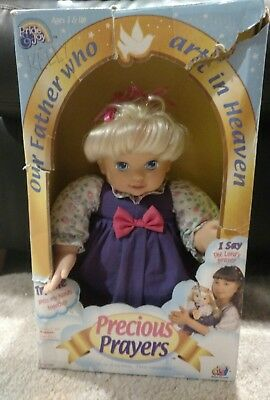 Precious Prayers Doll, Works, In Original Box, Praying Doll Says Lord's Prayer