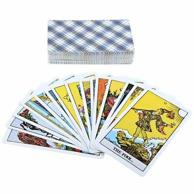 78Pcs Rider Waite Tarot Magician Card Cards Deck Cards English Full Version UB