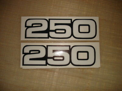 1980-1983  Yamaha YZ250 Side Panel Decals AHRMA