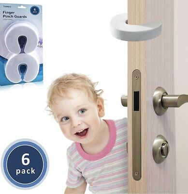 Finger Pinch Door Guard 6 Pack - Premium Quality Durable Baby Home Proofing