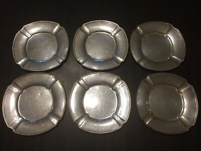 Pairpoint EPNS Dessert Silver Plated Plates 6 3/4 Inches Set Of 6!
