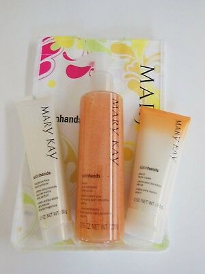 Brand New Discontinued Mary Kay Peach Satin Hands Pampering Set