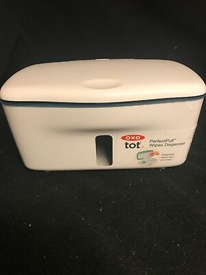 OXO Tot Perfect Pull Wipes Dispenser Non-Slip Phthalate PVC Free Navy Blue NEW
