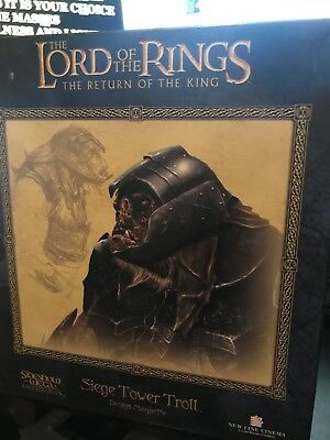 """Sideshow Weta Lord of the Rings Siege Tower Troll Maquette 2732/3000 7.5""""Tall"""