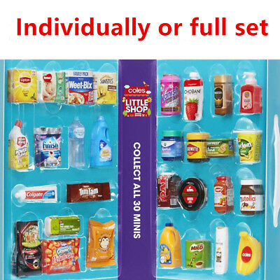 Coles Little Shop Mini Collectables Toys Case 30 Full Set Free Shipping Complete