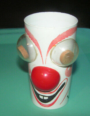 1950's Clowny the Clown Hillcrest milk shaker cup figural advertisement