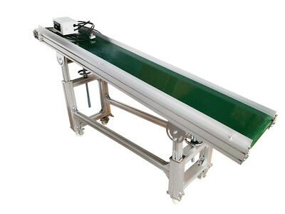"""110V 120W 70.8"""" X 11.8"""" Aluminum Electric Inclined Conveyor Machine Packaging"""