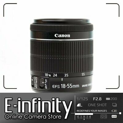NEW Canon EF-S 18-55mm f/3.5-5.6 IS STM Lens (White Box)