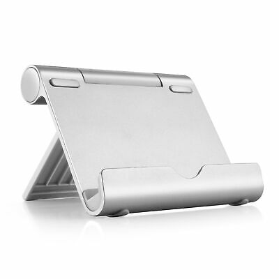Multi-Angle Adjustable Portable Aluminum Holder Stand for Tablet and Smartphone