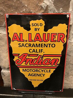 Indian Motorcycle Agency Porcelain Sign