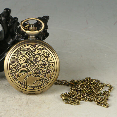European Exquisite Classical Copper Carved Pattern Pocket Watch LB34+c
