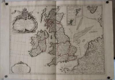 United Kingdom Ireland 1784 Javier/santini Antique Original Copper Engraved Map