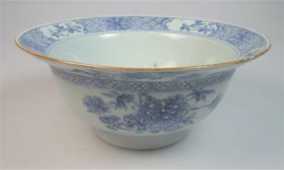 A Chinese export  blue and white 18th century Clam-pot bowl
