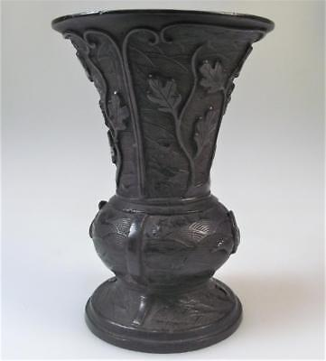 A Chinese 17th century Ming dynasty cast bronze gu vase