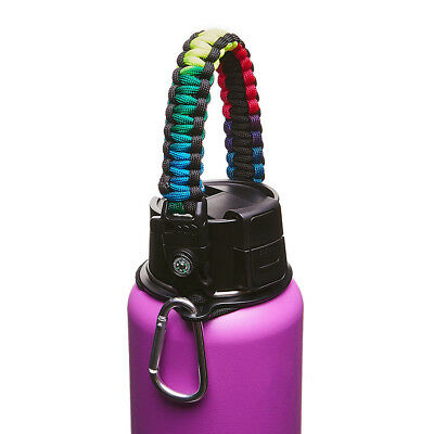 Paracord Handle Strap Cord Safety Ring & Carabiner for Hydro Flask Wide Mouth 14