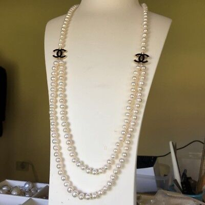 natural freshwater 7-8mm elegant pearl Lovely Design necklace 75cm length AA