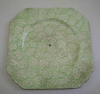 Art Deco British anchor  cake plate  collectable flowers on porcelain