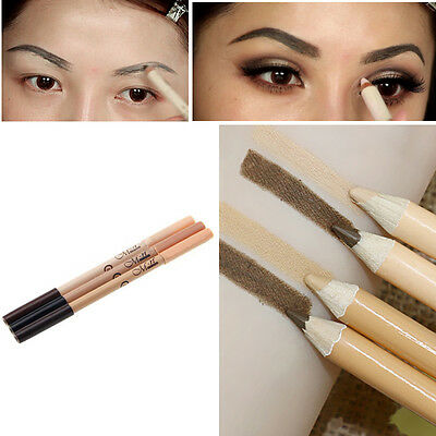 Double-end 2 in1 Waterproof Make Up Eyebrow Pen + Foundation Concealer Pencil