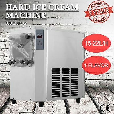 Commercial Frozen Hard Ice Cream Machine Maker 15-22L/H w/ LCD Display 1400W.
