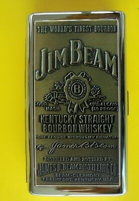Early Jim Beam Chrome Cigarette Case New In Box