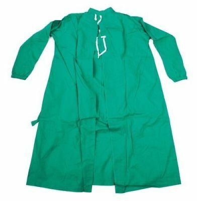 REUSABLE SURGICAL GREEN GOWN-SIZE S/M-100% cotton