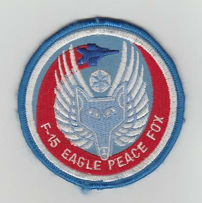 Ecusson Patch Us Air Force  F 15 Eagle Peace Fox Mc Donnell Douglas