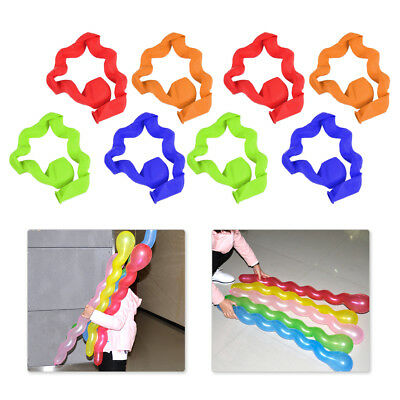 100x Colorful Latex Long Twist Spiral Balloons Wedding Kids Birthday Party Decor