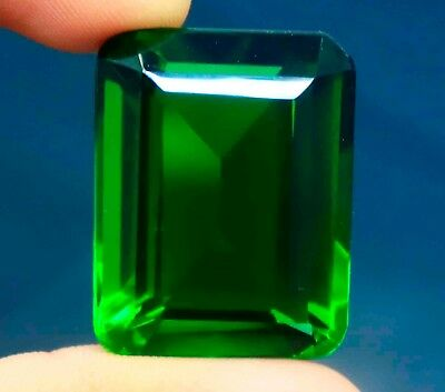 89.15 Ct EGL Certified Emerald Shape Beautiful Green Moldavite Gemstone BU415