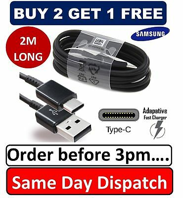 2M Original Samsung S8 S9 TYPE C Cable USB-C Fast Charger Genuine Data Sync Lead
