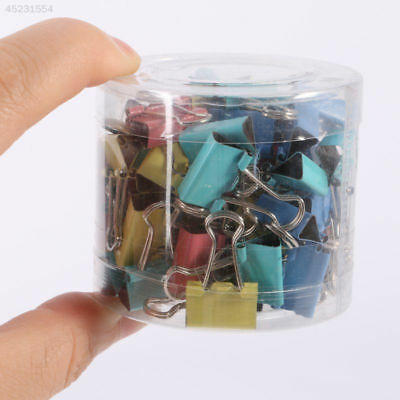 60Pcs 15mm Metal Binder Clips For Home Office Supplies School File Paper