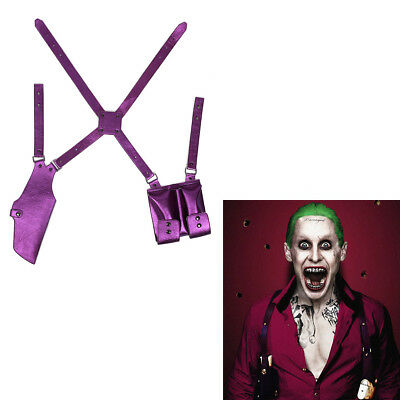 Suicide Squad Cosplay Belt Joker Holster Gun Case Shoulder Strap Props Halloween