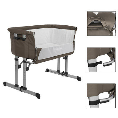 Adjustable Cotbed Sleeping Next to Me Birth Crib Baby Cradle Bedside with Wheels