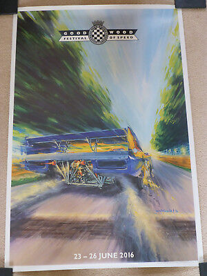 GOODWOOD FESTIVAL of SPEED  2016.Signed  Ltd Edition Poster (RARE)
