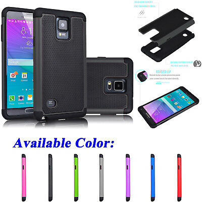 For Samsung Galaxy Note 4 Shockproof Armor Hybrid Rugged Rubber Hard Case Cover