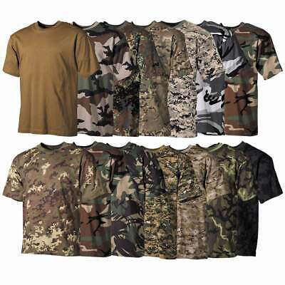 Mens Army Camouflage T-Shirt 100% Cotton Crew Neck S-3XL Military Tactical