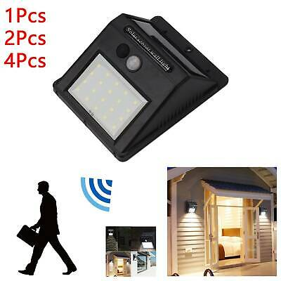20 LED Solar Powered PIR Motion Sensor Light Outdoor Garden Security Wall Lights