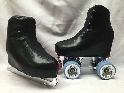 Black PVC Boot Covers for Roller Skates/Ice Skates SMALL  ONLY