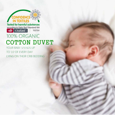 Organic Cotton Baby Infant Bedding Quilt  Cover Filling Crib Cot Coverlet Duvet