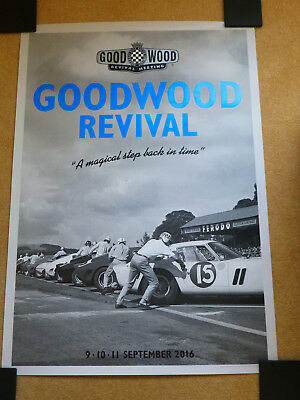 GOODWOOD REVIVAL POSTER  2016 ( A Magical Step Back In Time)